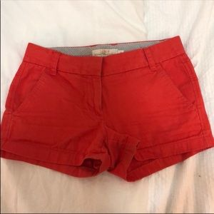 J. Crew Dark Orange Chino Shorts